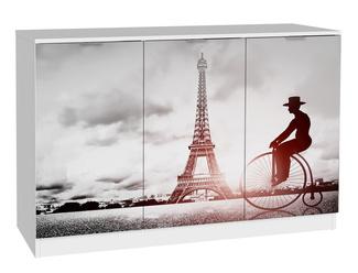 Imagen de Aparador Wezen 3 Puertas Blanco Torre Eiffel Ref.H004-RDP